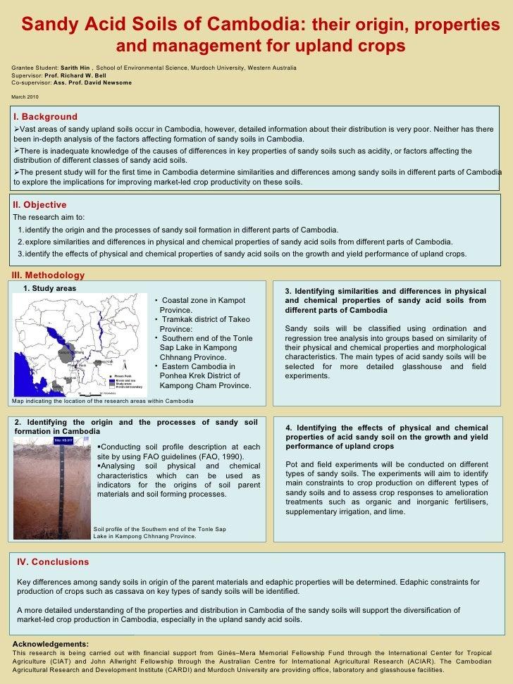 15 cm 60 cm Sandy Acid Soils of Cambodia:  their origin, properties and management for upland crops Grantee Student:  Sari...