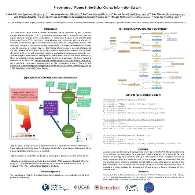 Poster RDAP13: Provenance of Figures in the Global Change Information System