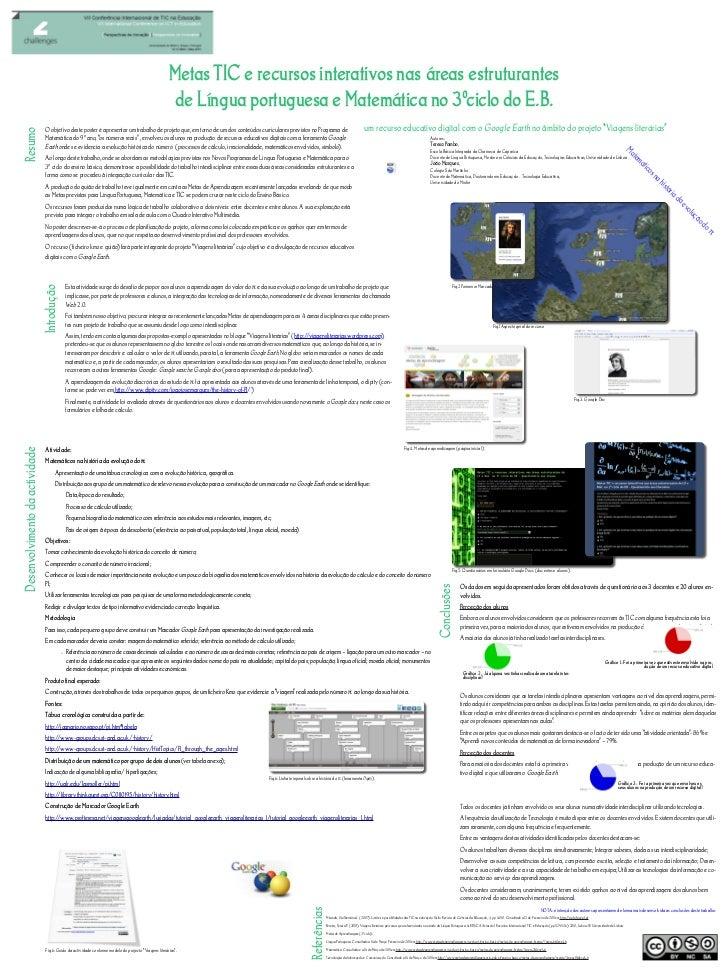 Metas TIC e recursos interativos nas áreas estruturantes                                                                  ...