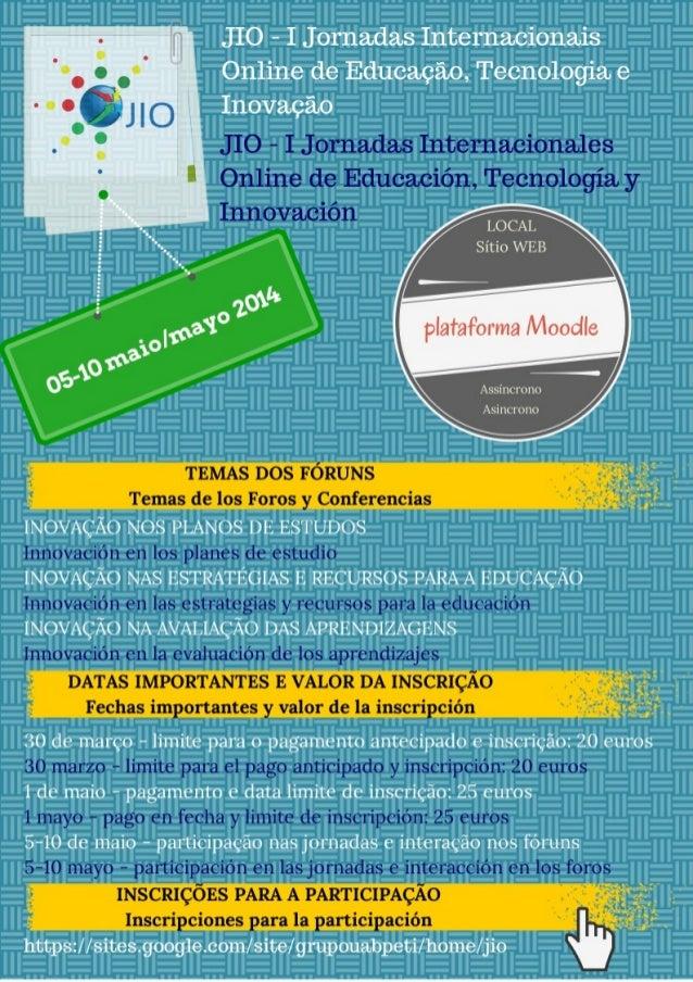 Poster JIO - Informações