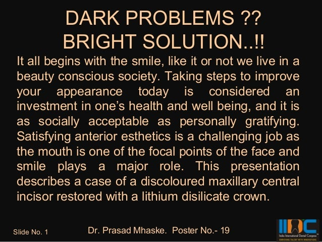 DARK PROBLEMS ??              BRIGHT SOLUTION..!! It all begins with the smile, like it or not we live in a beauty conscio...