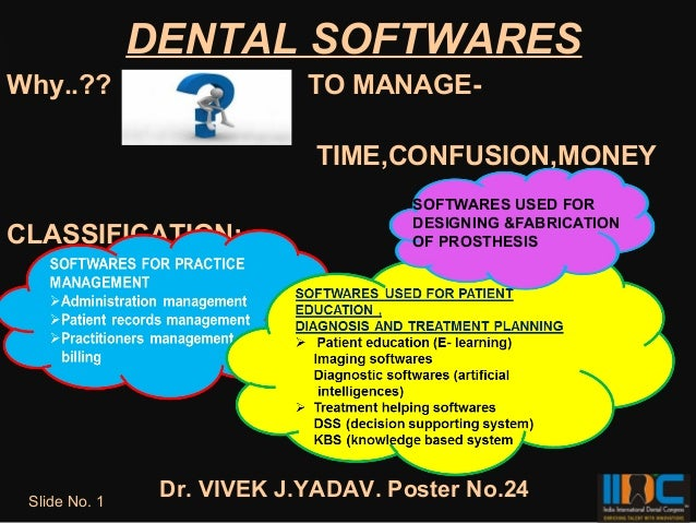 DENTAL SOFTWARESWhy..??                     TO MANAGE-                             TIME,CONFUSION,MONEY                   ...