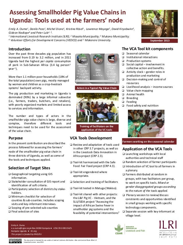 Assessing Smallholder Pig Value Chains in Uganda: Tools used at the farmers' node 1, Ouma  1, Pezo  1, Dione  1 Rösel  2, ...