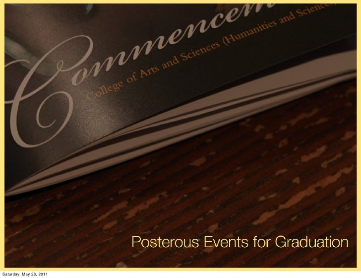 Posterous events for grads
