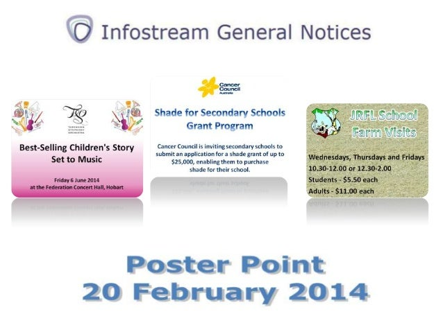 Poster Point 20 March 2014