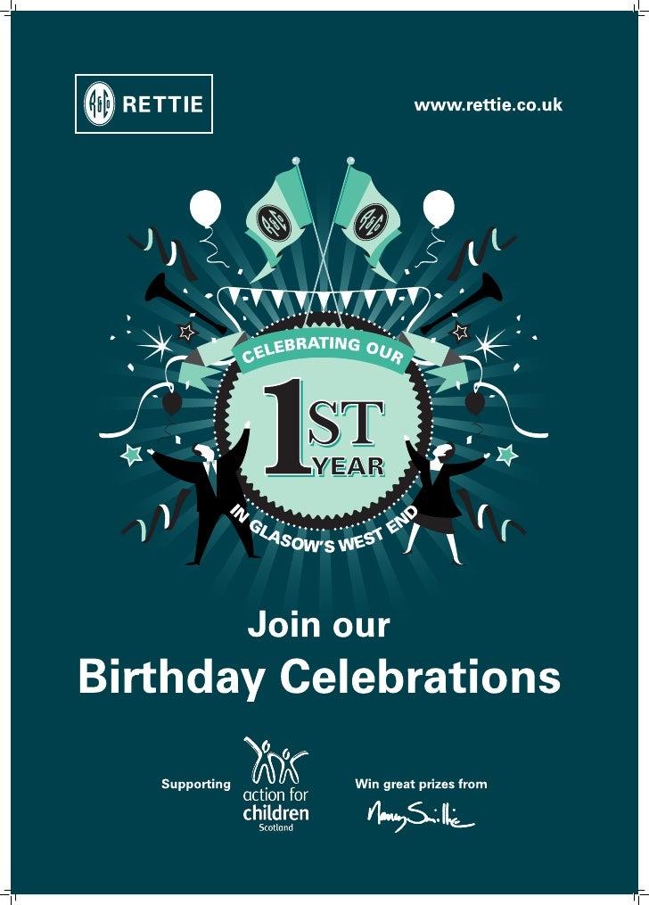 Glasgow West End 1st Birthday