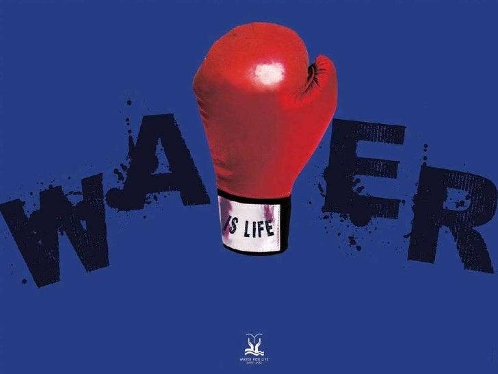 """Presentacion carteles """"El agua es vida"""""""