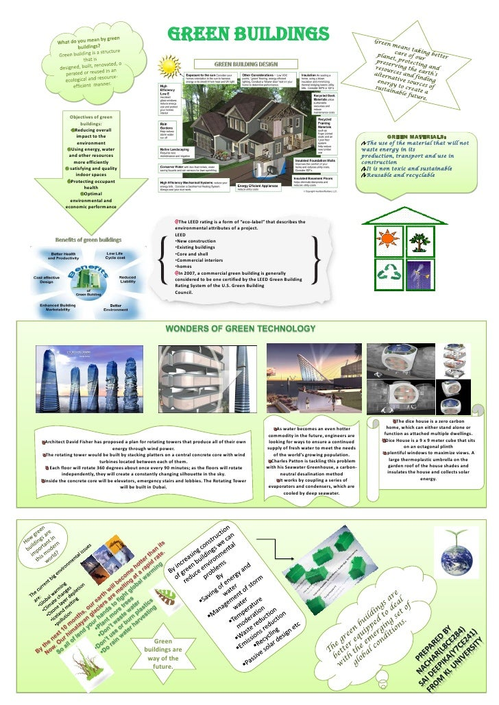 Poster Presentation On Green Buildings