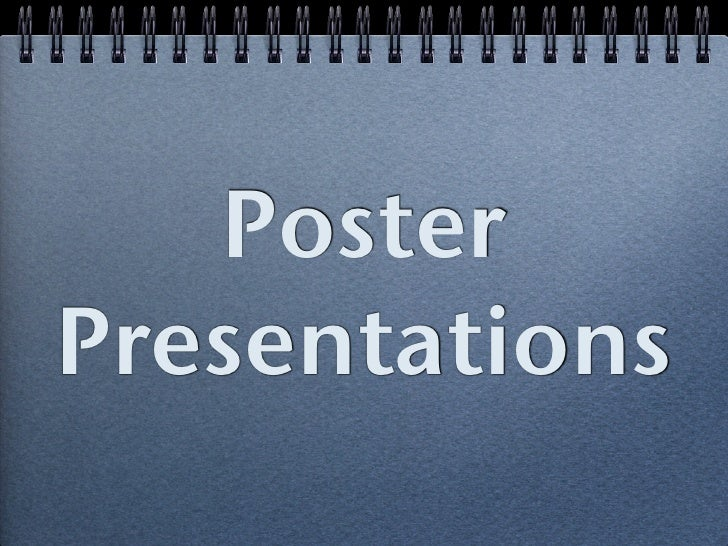 Architectural Poster Presentations