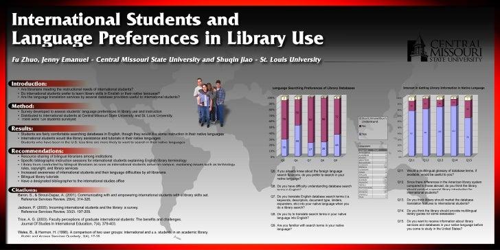 Language Preferences for Database Usage among International Students