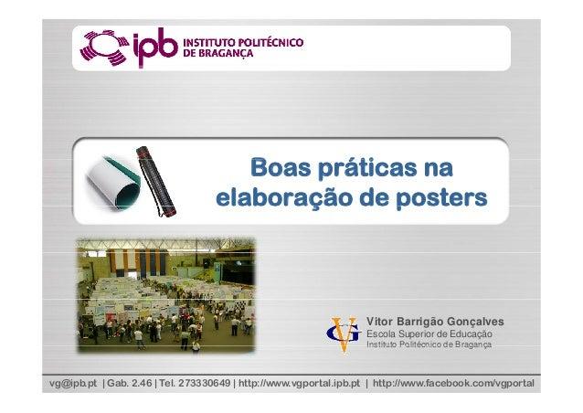 Boas práticas na elaboração de Posters