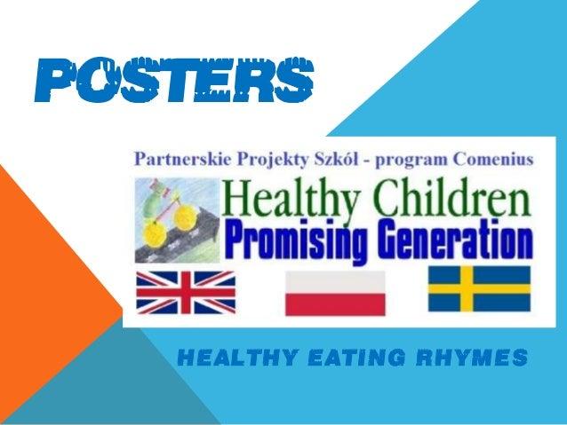 POSTERS HEALTHY EATING RHYMES