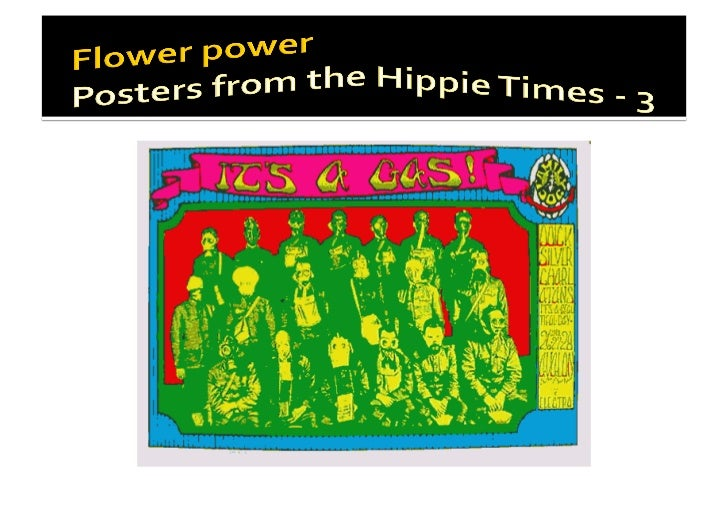 Flower power - Poster from the hippie times / 3
