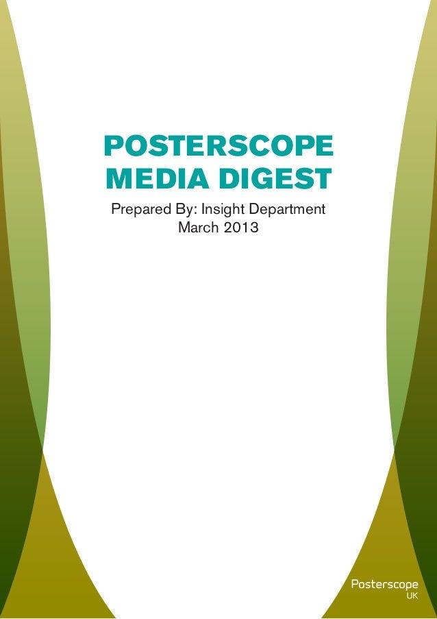 Posterscope Media Digest - Spring 2013