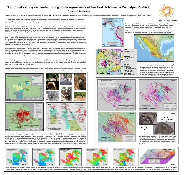 Structural setting and metal zoning of the Ag-Au veins of the Real de Minas de Zacualpan District, Central Mexico Brian V....