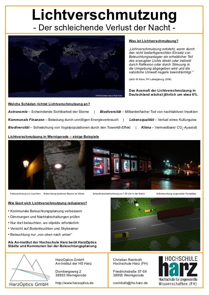Lichtverschmutzung                         - Der schleichende Verlust der Nacht -                                         ...