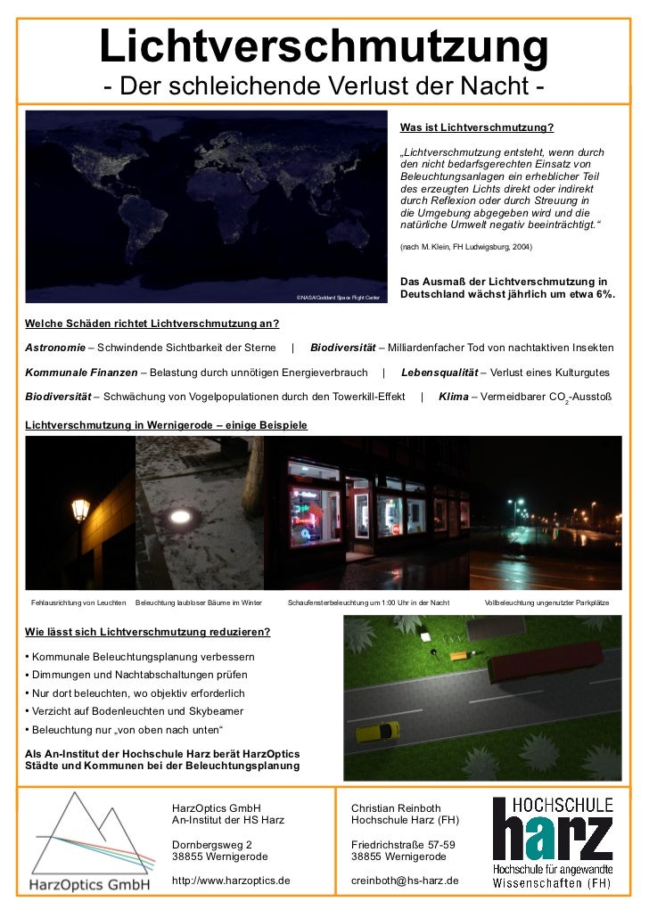Lichtverschmutzung - der schleichende Verlust der Nacht