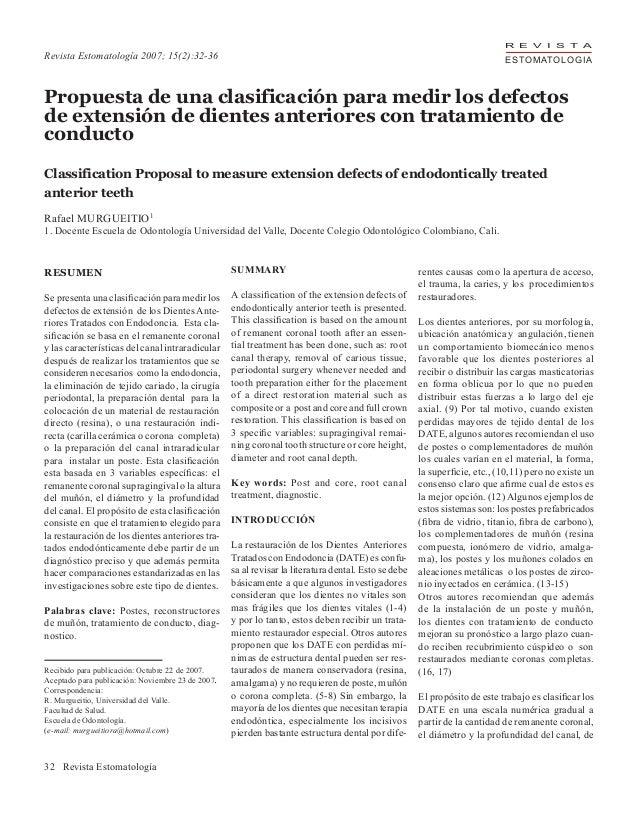 Postes anteriores revista estomatologia