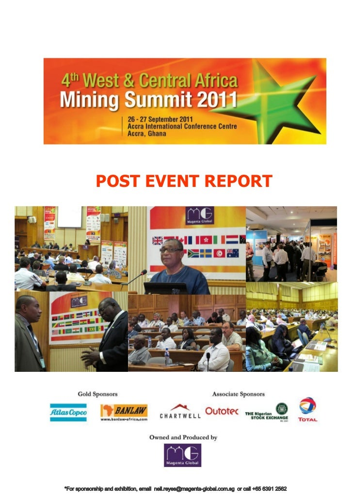 Post Event Report for the 4th West and Central Africa Mining Summit