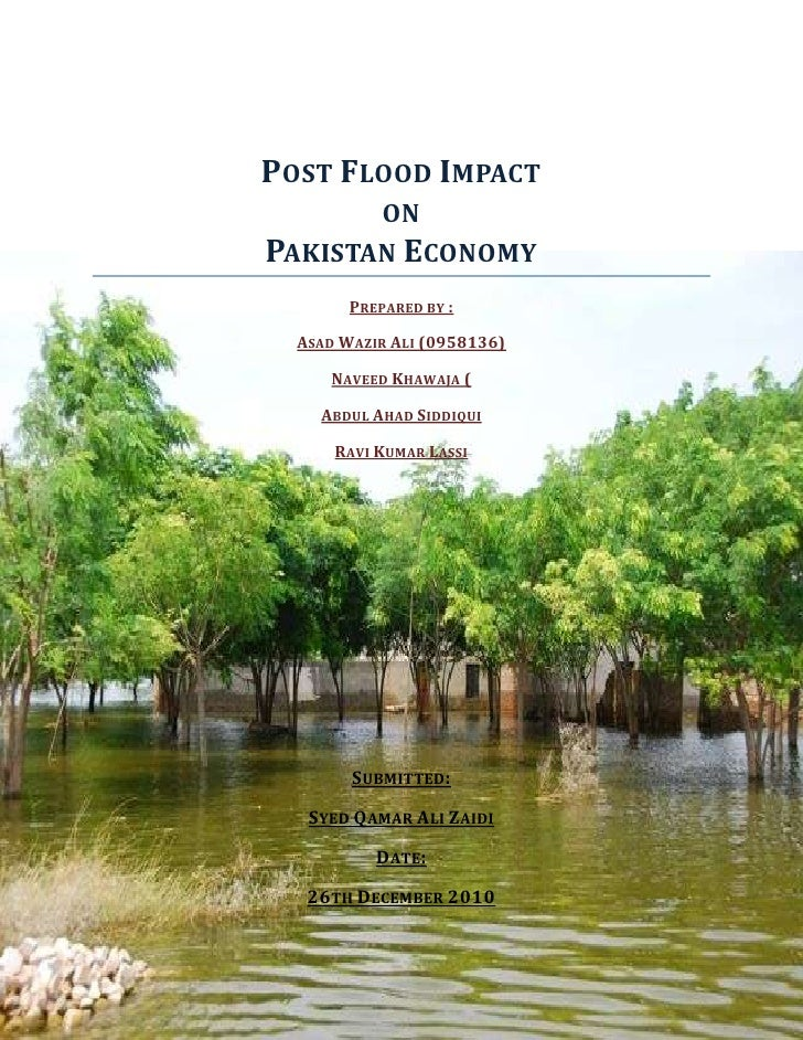 Post flood impact on Pakistan economy