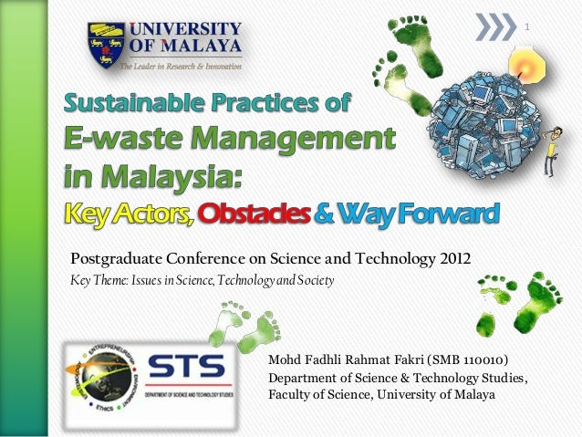 Sustainable Practices of E-Waste Management: Keyactors, Obstacles and Way-forward