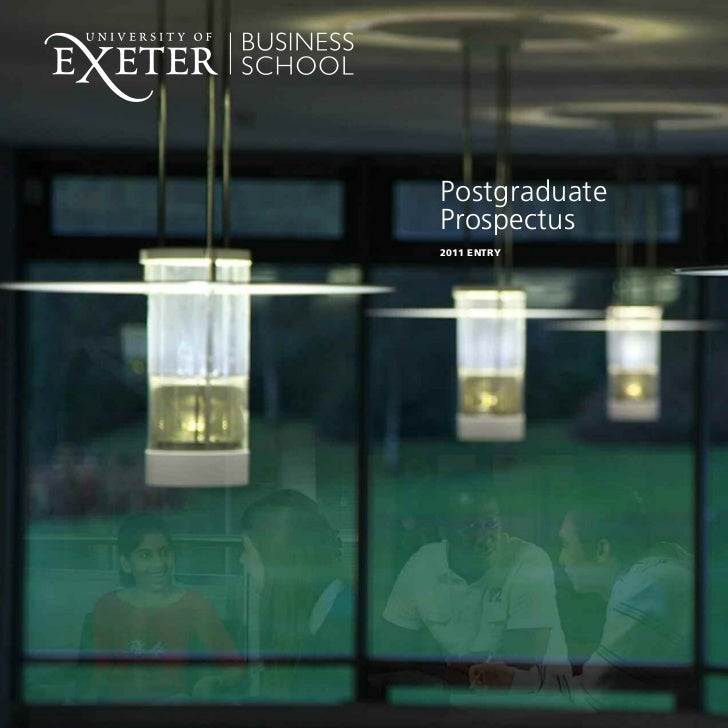 Postgraduate brochure - University of Exeter Business School