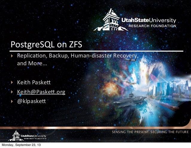 Keith Paskett - Postgres on ZFS @ Postgres Open