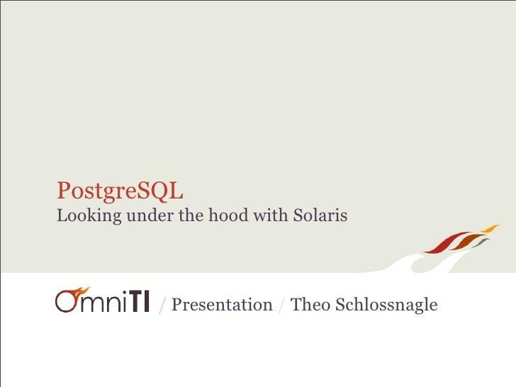 PostgreSQL Looking under the hood with Solaris                / Presentation / Theo Schlossnagle