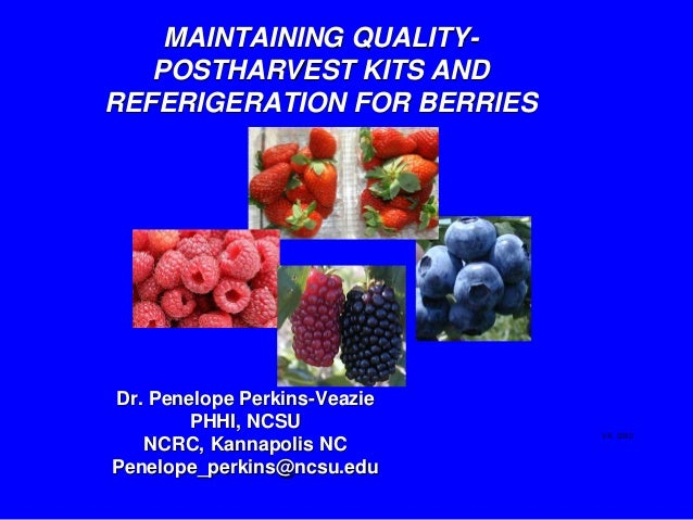 MAINTAINING QUALITY-   POSTHARVEST KITS ANDREFERIGERATION FOR BERRIESDr. Penelope Perkins-Veazie        PHHI, NCSU        ...