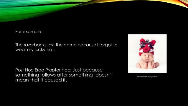 Post Hoc Red Herring And Strawman Fallacy Training Slideshow
