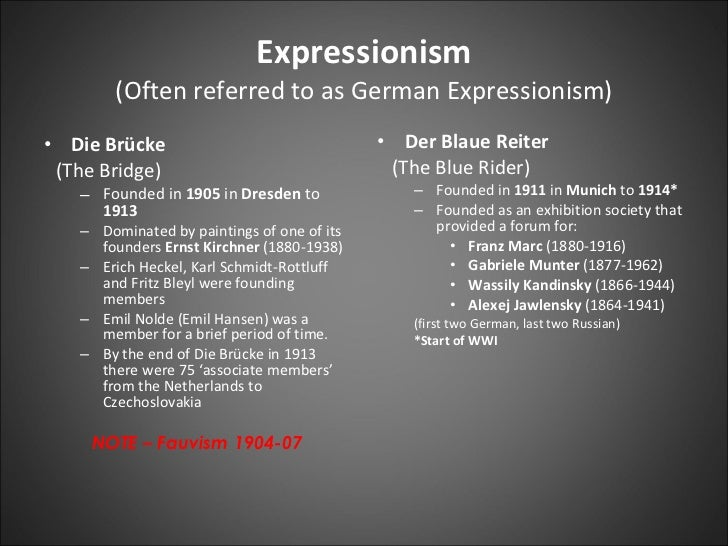 an analysis of german expressionism and surrealism Though some may view abstract expressionism and surrealism as similar, the thing that made it fundamentally  analysis of nudity in german expressionism.