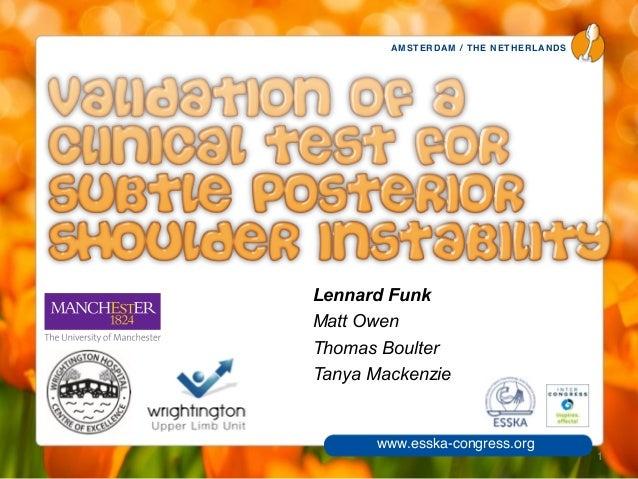 Posterior instability Test - Lennard Funk