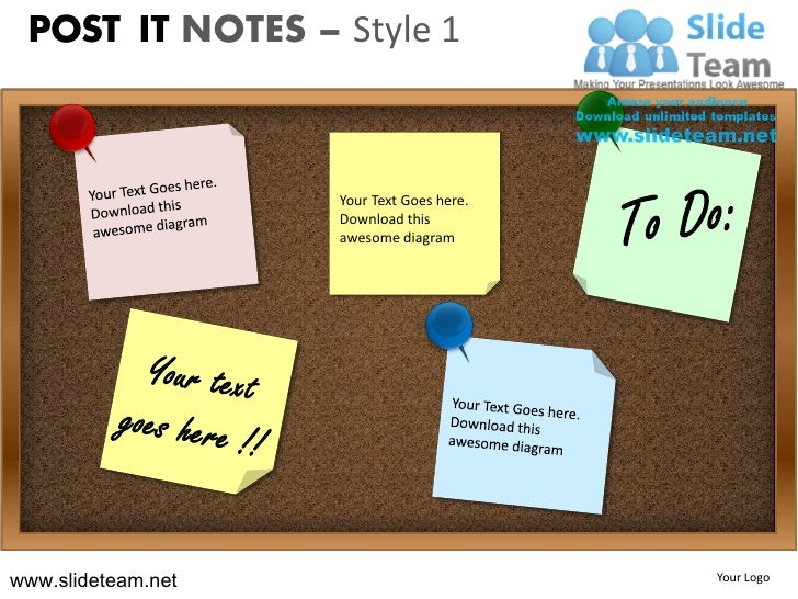 Post it notes on blackboards design 1 powerpoint ppt templates.
