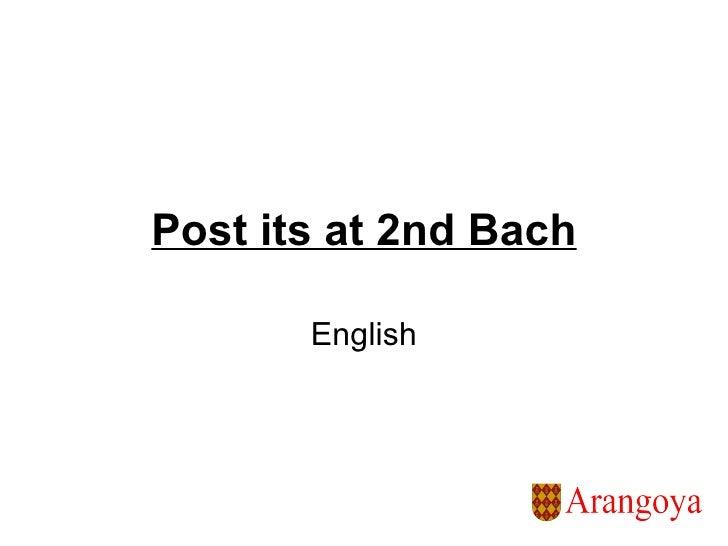 Post its at 2nd Bach English