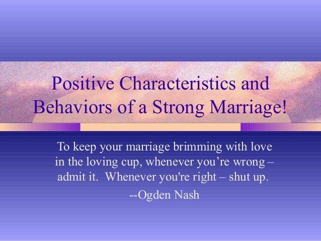 Characteristics happy marriage essay