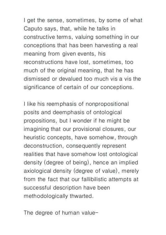 Postmodern deconstruction as epistemic fetish