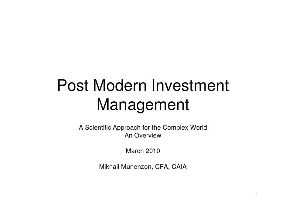 Post Modern Investment Management