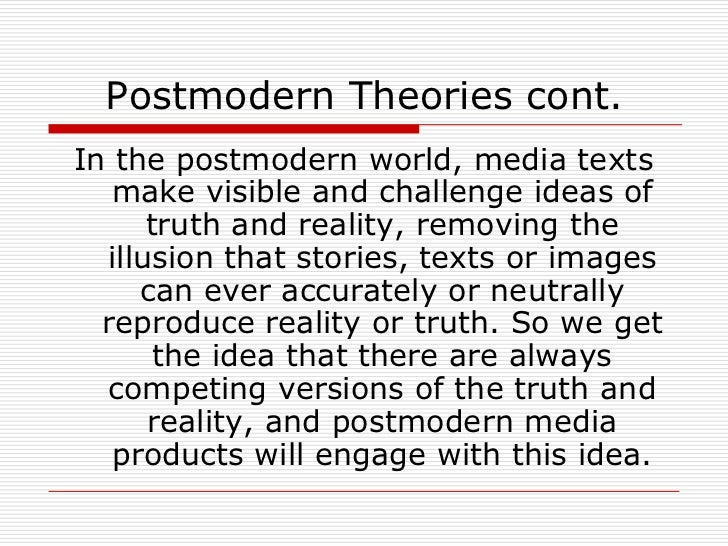 the post modern era essay Let us write or edit the essay on your topic from realism through the postmodern era (5db) with a personal 20% discount.