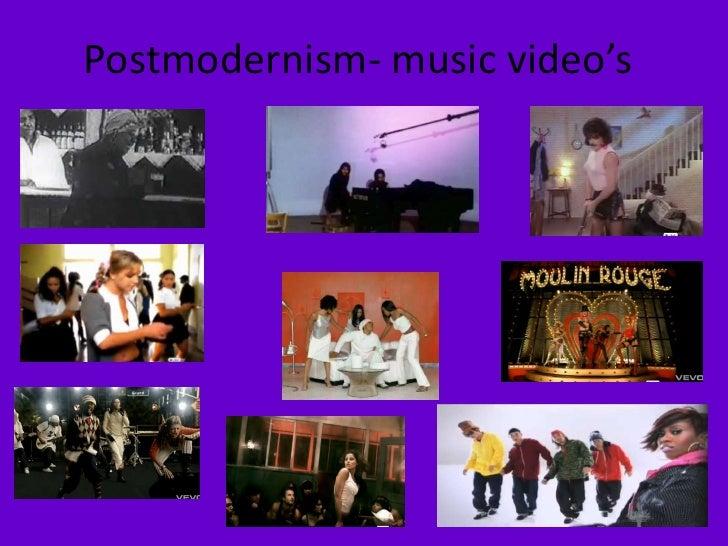 Postmodernism history of music videos music video's