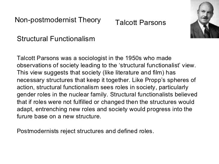 contribution of talcott parson to sociology Talcott parsons (1902 – 1979) is a well-known american sociologist who devoted most of his life to working on the faculty of harvard university.