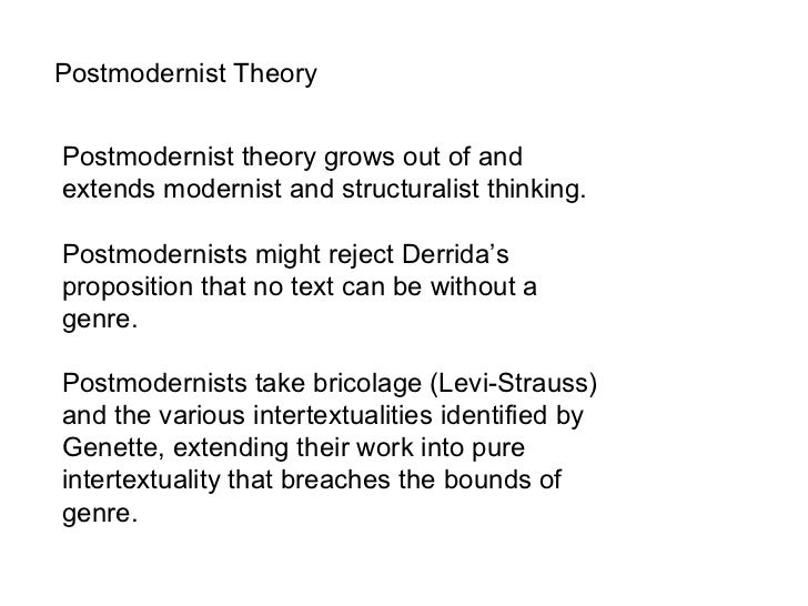 derrida postmodernism essay Postmodernism in literature experiments with signification are used as examples by jacques derrida and michel of postmodernism essay 2180.
