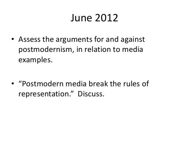 Help with postmodern essay?