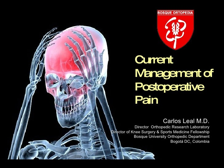 Current             Managem of                      ent             Postoperative             Pain                        ...