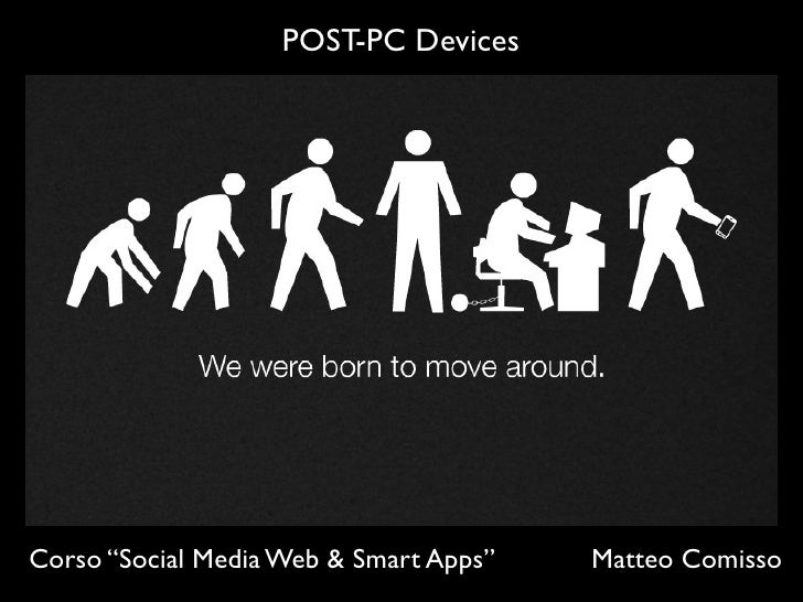 "POST-PC DevicesCorso ""Social Media Web & Smart Apps""   Matteo Comisso"
