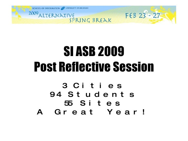 ASB Post Reflective Session Ppt