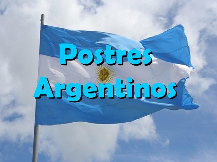 Postres Argentinos