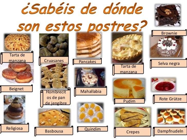 Postres tipicos espa oles for Nombres de platos franceses