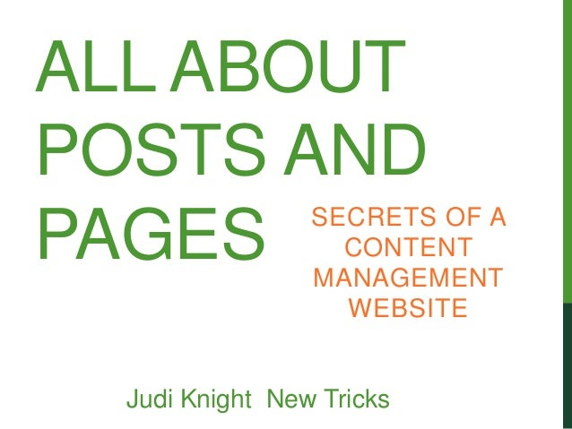 ALL ABOUTPOSTS AND                 SECRETS OF APAGES              CONTENT                 MANAGEMENT                   WEB...