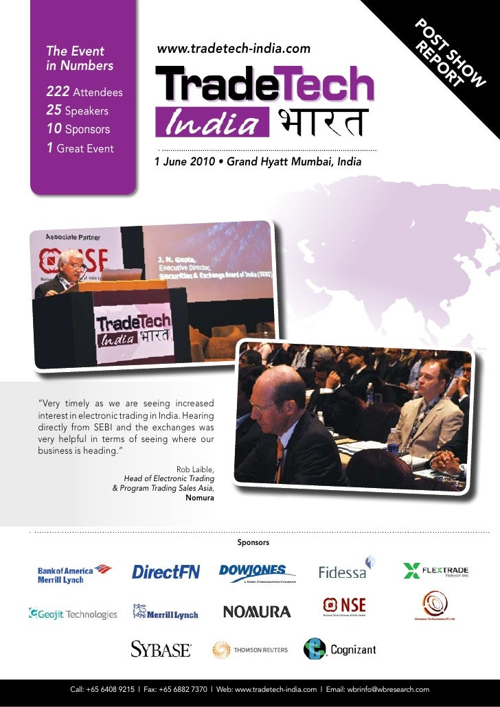 Post Show Report TradeTech India 2010