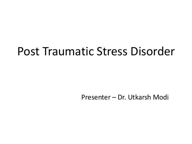 research papers post traumatic stress disorder